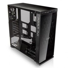 Inwin 805 Type-C Black ATX MidTower Gaming Case Tempered Glass with CPU Cooler Supports Upto 156mm, Graphs Card Supports Upto 320mm, 280mm Rad Supported, 8XPCI Slots, Front 2XUSB3.0, 1X USB2.0, 1X USB Type C, NO PSU