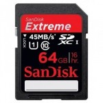 SanDisk Extreme SDXC Class 10 UHS-I 45MB/s 64GB SDSDX-064G-XQ46