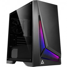 Antec DP301M RGB mATX Gaming Case Tempered Glass, CPU Cooler Supports Upto 160mm, Graphs Card Supports Upto 360mm, 280mm Rad Supported , 4X PCI Slots, Front: 2X USB, HD Audio, NO PSU