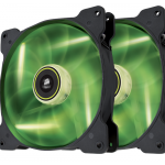 Corsair Air Series SP140 High Static Pressure 140mm LED Green TwinPack