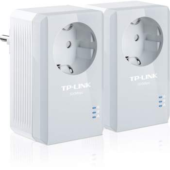 TP-Link PowerLine TL-PA4010PKIT 500Mbps Starter Kit w/ AC Pass-through, 1 x Lan