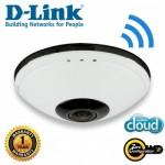 D-LINK DCS-6010L InDoor Fisheye 360 Cloud IP Camera, Wireless-N, 1600x1200 15fps, Microphone & Speaker, Micro-SD Slot