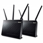 ASUS RT-AC68U AIMesh Wi-Fi System - 2 Pack, Dual-Band AC1900, 5 x Gigabit Ethernet Port on each Mesh Router/Point