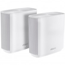 ASUS ZenWiFi XT8 Wi-Fi 6 Mesh Wi-Fi System - 2 Pack, White, MU-MIMO, Tri-Band AX6600, 1 x 2.5Gbps WAN Port, 3 x Gigabit LAN Port, HyperFibre Ready